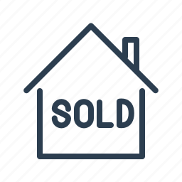apartment, building, home loan, house, property, real estate, sold icon