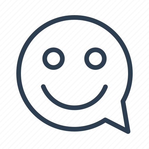 chat, chatting, comment, happy, message bubble, smile face, smiley icon