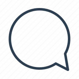 chat, chatting, comment, communication, message bubble, round, talk icon