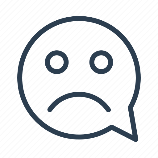 chat, chatting, comment, message bubble, sad, smile face, smiley icon