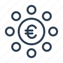 budget, euro, income, investment, money, profit, revenue icon