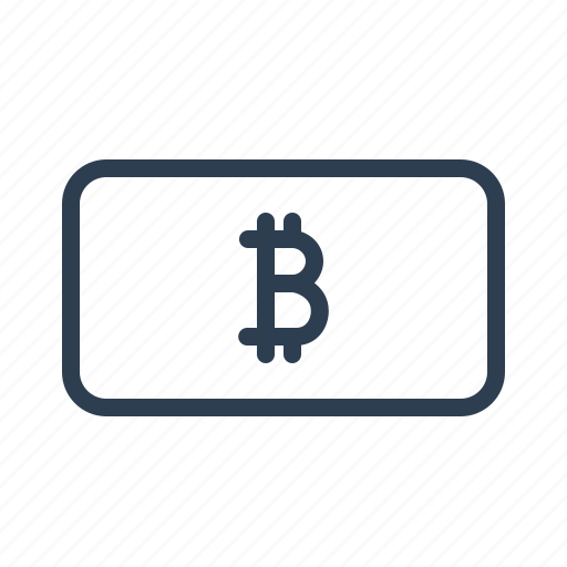 banknote, bitcoin, cash, currency, finance, money, online icon