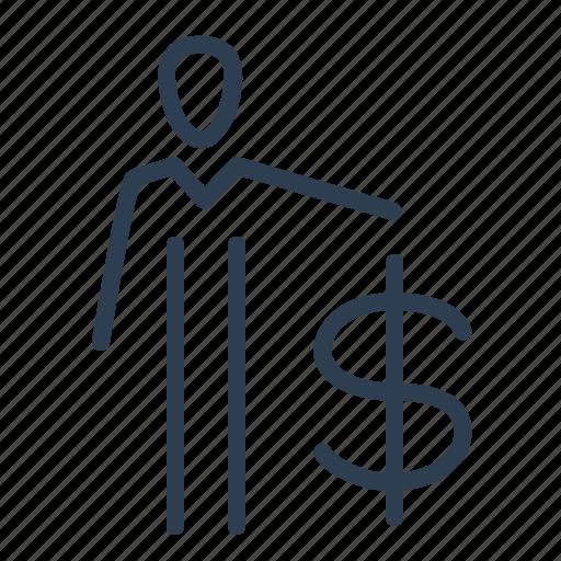businessman, client, dollar, finance, industrialist, investor, man icon