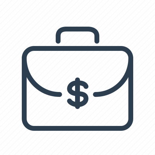 briefcase, business, dollar, finance, money bag, office, service package icon