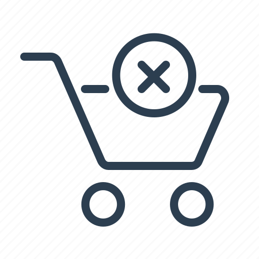 add to cart, buy, delete, ecommerce, online shop, remove, shopping bag icon