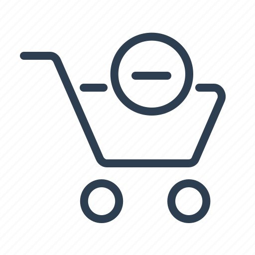 buy, cart, delete, minus, online store, remove, shopping bag icon