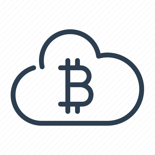 bitcoin, cloud, currency, money, online walet, share, sync icon
