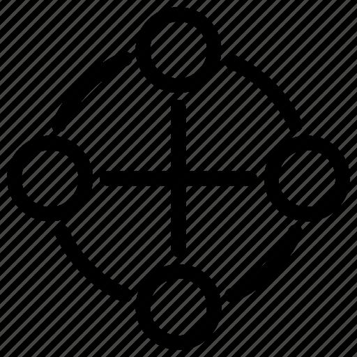 Network P2p Peer To Peering Team Icon