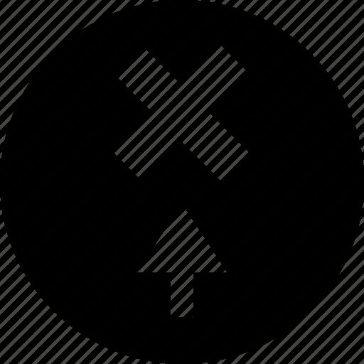 arrow, delete, point, x icon