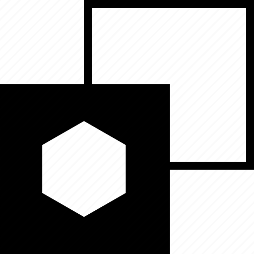 abstract, copy, hexagon, sign icon
