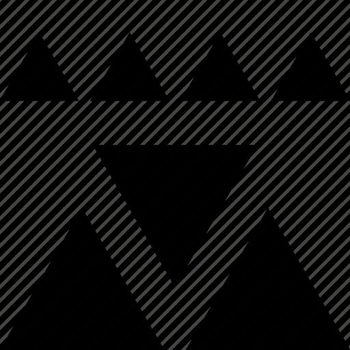 creative, triangle, triangles icon