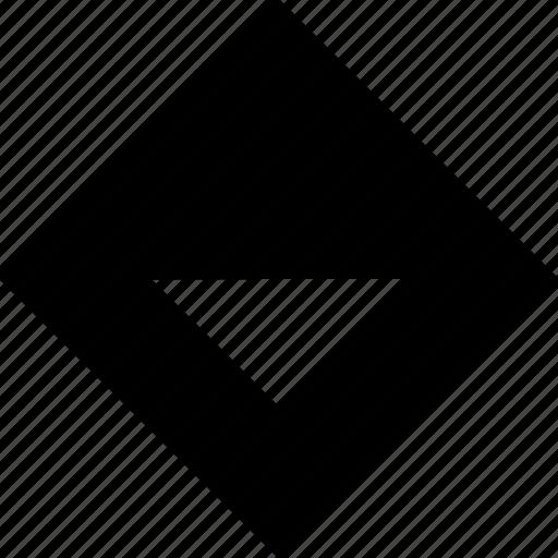 arrow, cube, down, pointer icon