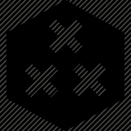 crosses, delete, three, x icon