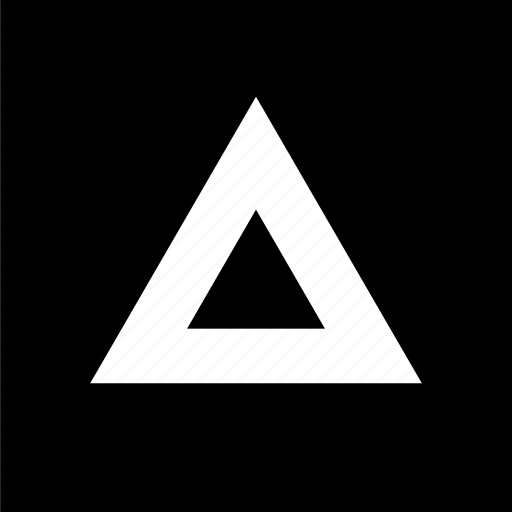 abstract, hit, sign, triangle icon