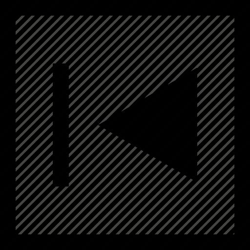 arrow, left, youtube icon