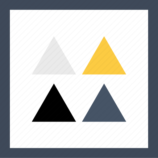 abstract, arrow, four, triangles icon