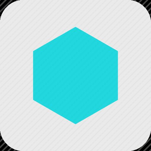abstract, creative, hexagon, shape icon