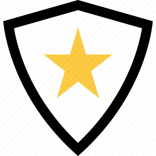 abstract, creative, shape, shield, star icon