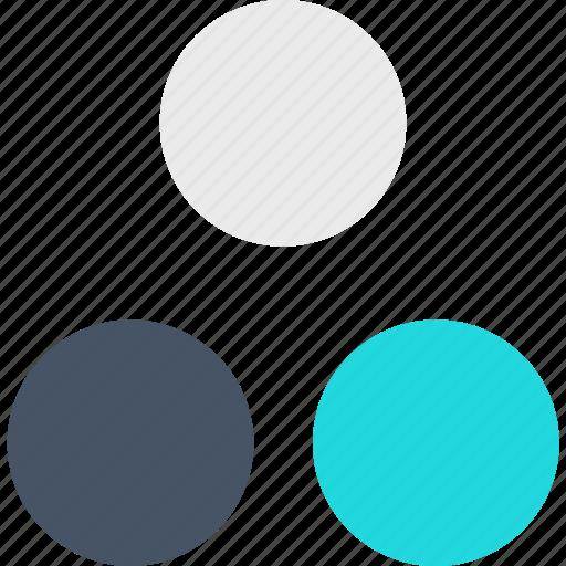 abstract, creative, design, spots icon