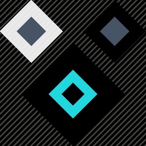 abstract, creative, eye, shape, three icon