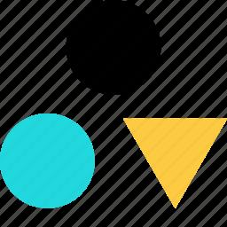 abstract, arrow, shape, triangle icon