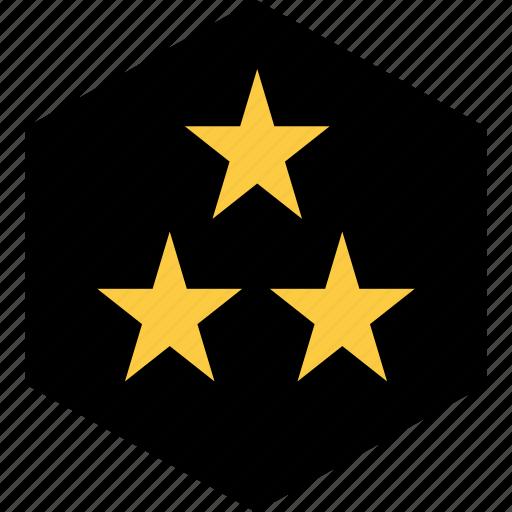 abstract, design, star, stars, three icon