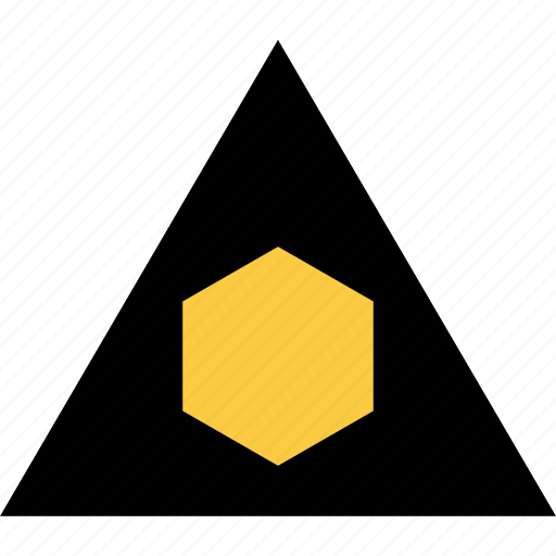 abstract, creative, design, hexagon, triangle icon