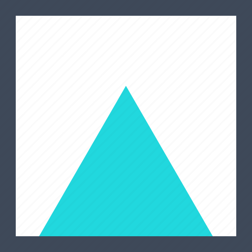 abstract, creative, triangle, up, upload icon