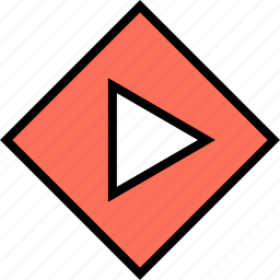 abstract, arrow, creative, design, point, right icon