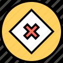 abstract, center, creative, design, x icon