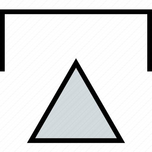 abstract, arrow, creative, pointer, triangle, up icon