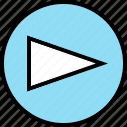 abstract, arrow, cone, creative, design, point, right icon