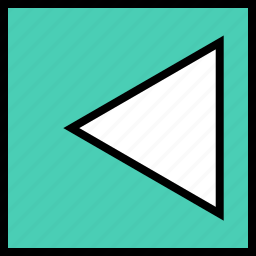 abstract, arrow, back, boxed, creative, left, pointer icon