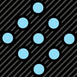 abstract, creative, cube, design, dots icon