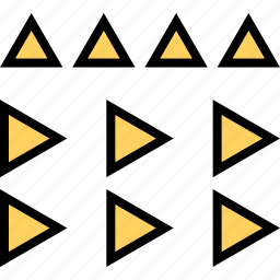 abstract, assorted, creative, design, mixed, triangles icon
