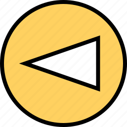 abstract, arrow, cone, creative, left, point, pointer icon