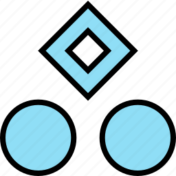 abstract, center, creative, cube, spots, top icon