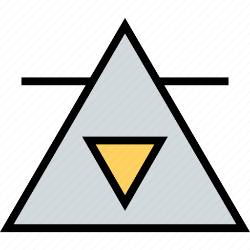 abstract, creative, new, order, triangle, world icon