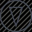 abstract, arrow, create, creative, design, designed, down icon