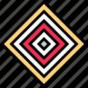 abstract, creative, cube, design, eye, maze icon