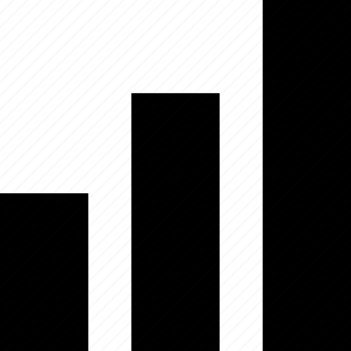 abstract, bars, data, sign icon