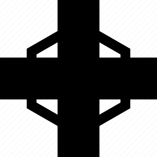 abstract, cross, line, sign icon
