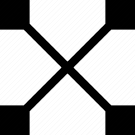 abstract, connection, cross, sign icon