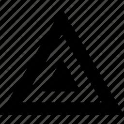 abstract, angle, pyramid, sign icon