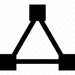 abstract, connection, sign, triangle icon