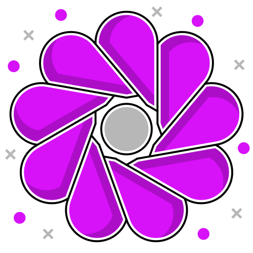 abstract ecology, abstraction, environmental, flower, leaves, shape icon