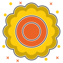 abstraction, leaves, yellow, environmental, shape, flower, abstract ecology icon