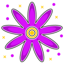 abstraction, leaves, environmental, shape, flower, violet, abstract ecology icon