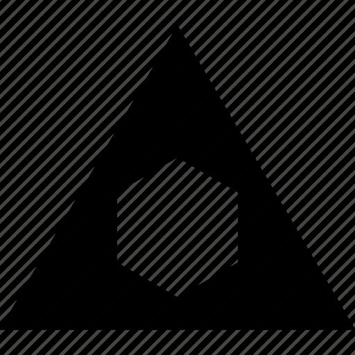 abstract, hexagon, triangle icon