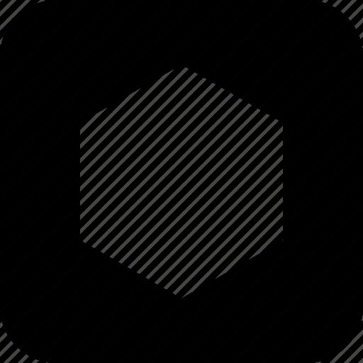 abstract, hexgon, shape icon